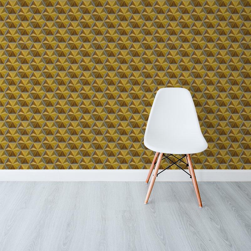 Hexagons-Gold