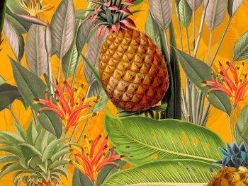 טפט אננסים Tropical-Leaves-and-pineapples