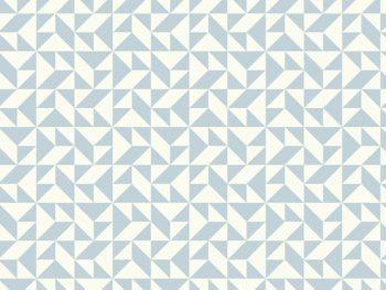 שטיח PVC גאומטי פסטל תכלת
