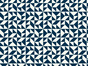 שטיח PVC גאומטי כחול